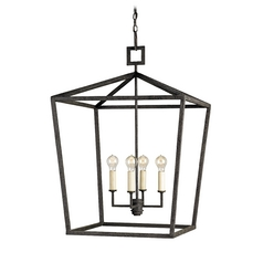 Mid-Century Modern Pendant Light Mole Black Denison by Currey and Company Lighting