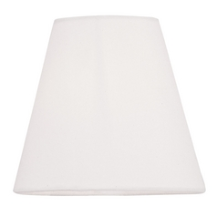 Hand-Made Off-White Linen Hardback Clip-On Lamp Shade