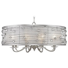 Golden Lighting Joia Peruvian Silver Chandelier