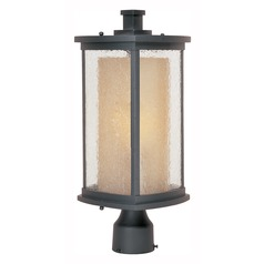 Seeded Glass LED Post Light Bronze Maxim Lighting