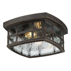 Quoizel Stonington Palladian Bronze Close To Ceiling Light