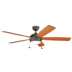 Kichler Lighting Starkk Olde Bronze LED Ceiling Fan with Light