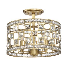 Savoy House Lighting Clarion Gold Bullion Semi-Flushmount Light