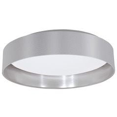 Eglo Maserlo Grey & Silver LED Flushmount Light
