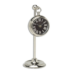 Clock in Nickel Finish