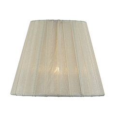 Pleated Cream Empire Lamp Shade with Clip-On Assembly