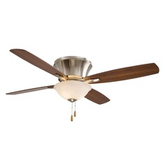 Minka Aire Mojo II Brushed Nickel Ceiling Fan with Light