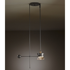 Hubbardton Forge Lighting Apparatus Burnished Steel Pendant Light