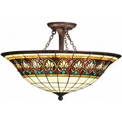 Kichler Lighting Kichler Semi-Flushmount Light with White Glass in Bronze Finish 69050