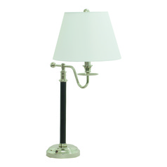 House Of Troy Bennington Black / Polished Nickel Table Lamp with Empire Shade