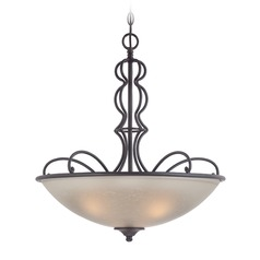 Designers Fountain Tangier Natural Iron Pendant Light with Bowl / Dome Shade