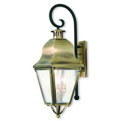 Livex Lighting Amwell Antique Brass Outdoor Wall Light