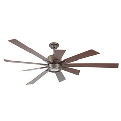 72-Inch Espresso Ceiling Fan with LED Light 2700K 1286LM