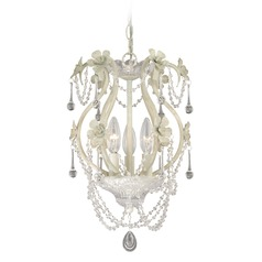 Mini Chandelier Antique White Mini-Chandelier by Vaxcel Lighting
