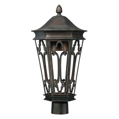 Capital Lighting Dark Sky Old Bronze Post Light