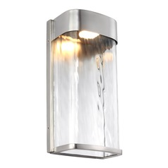 Feiss Lighting Bennie Painted Brushed Steel LED Outdoor Wall Light