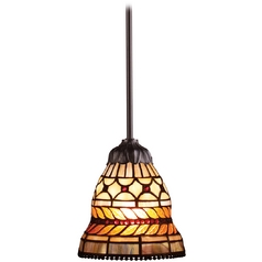 Elk Lighting Mini-Pendant Light with Multi-Color Glass 70087-1
