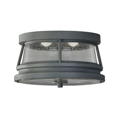 Feiss Lighting LED Close To Ceiling Light with Clear Glass in Storm Cloud Finish OL8213STC