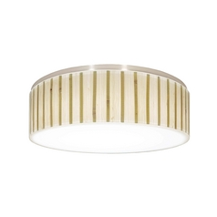 Decorative Recessed Ceiling Light Trim with Bamboo Drum Shade