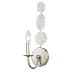 Crystorama Lighting Layla Antique Silver Sconce