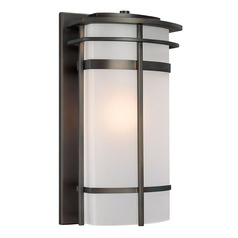 Frosted Glass Outdoor Wall Light Bronze Capital Lighting
