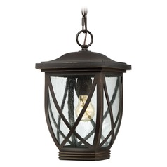 Quoizel Tudor Palladian Bronze Outdoor Hanging Light