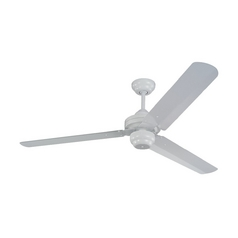 Monte Carlo Fans Modern Ceiling Fan Without Light in White Finish 3SU54WH