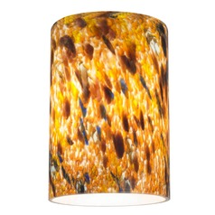 Pheasant Cylindrical Art Glass Shade