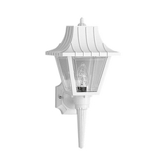 Progress Outdoor Wall Light with Clear in White Finish