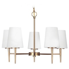 Modern Chandelier Bronze Driscoll by Sea Gull Lighting