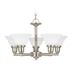 Sea Gull Lighting Sussex Brushed Nickel LED Chandelier