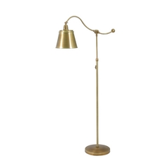 Arc Lamp in Weathered Brass Finish
