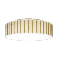 Decorative Ceiling Trim for Recessed Lights with Bamboo Drum Shade