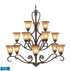 Elk Lighting Lawrenceville Mocha LED Chandelier