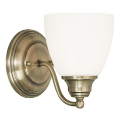 Livex Lighting Somerville Antique Brass Sconce