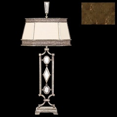 Fine Art Lamps Encased Gems Bronze Patina Table Lamp with Hexagon Shade
