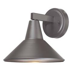 Dark Sky Approved Bronze Outdoor Wall Down Light - 8-1/4-Inches Tall