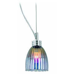 Low Voltage Mini-Pendant Light with White Glass