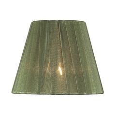 Pleated Green Empire Lamp Shade with Clip-On Assembly