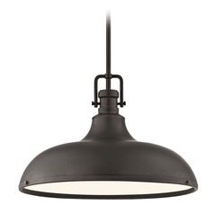 Industrial Bronze Metal Pendant Light 18.38-Inch Wide