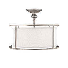 Capital Lighting Midtown Matte Nickel Semi-Flushmount Light