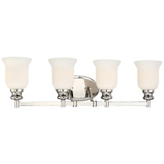 Minka Audrey's Point Polished Nickel Bathroom Light