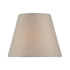 Linen Empire Lamp Shade with Clip-On Assembly - 3x5x4