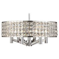 6-Light Pendant Light with Drum Crystal Shade