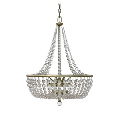 Frederick Ramond Caspia Silver Leaf Pendant Light with Bowl / Dome Shade