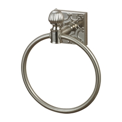 Sterling Lighting Brushed Steel Towel Ring