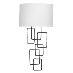Crystorama Lighting Lattice Raw Steel Sconce