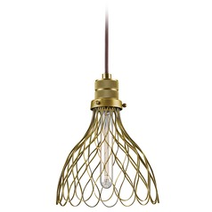Farmhouse Mini-Pendant Light Brass Devin by Kichler Lighting