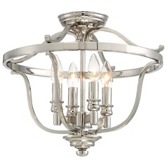 Minka Audrey's Point Polished Nickel Semi-Flushmount Light