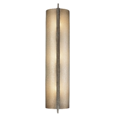 Minka Lighting Sconce Wall Light with Beige / Cream Glass in Patina Iron Finish 4393-573